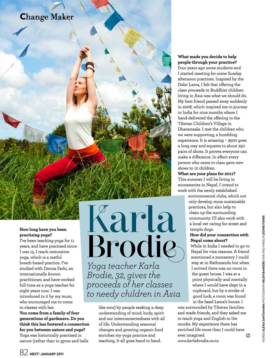 Karla Brodie in NEXT Magazine